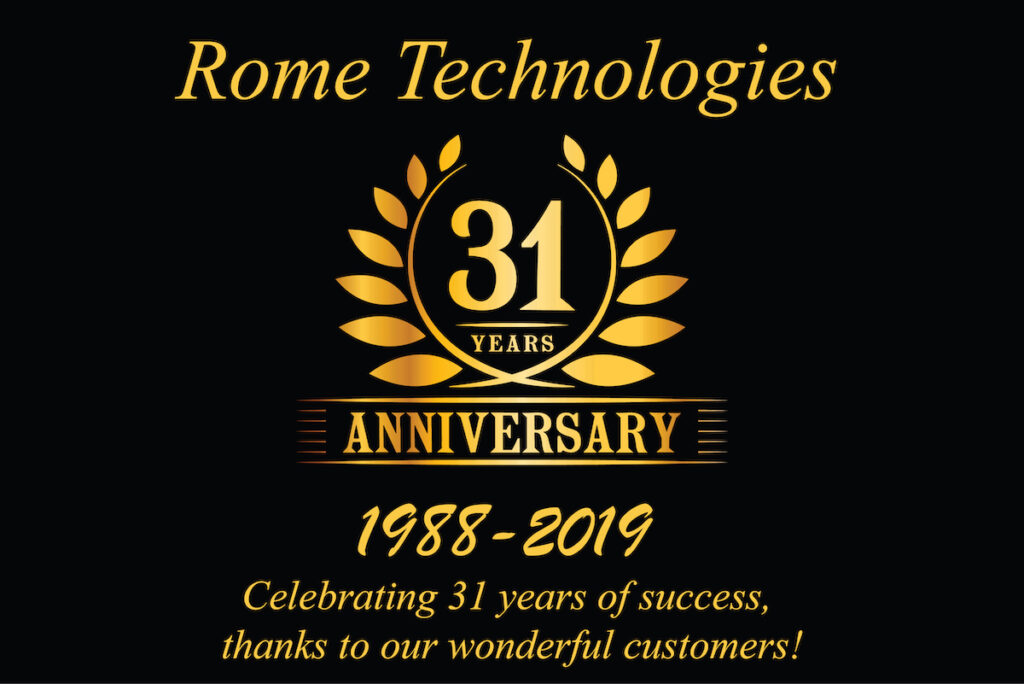 Rome Technologies in business for 31 years