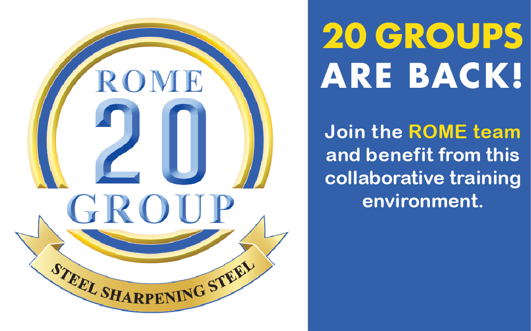 Rome 20-Groups are Back!
